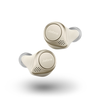 Jabra Elite 75t True Wireless Earbuds, Gold Beige