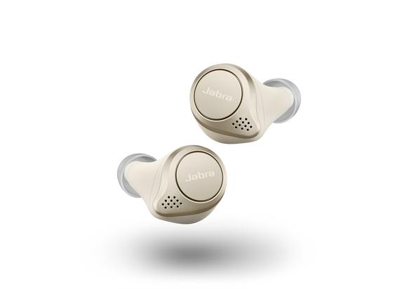 Jabra Elite 75t True Wireless Earbuds, Gold Beige