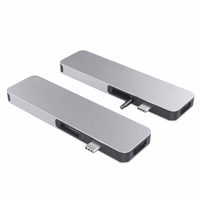 HyperDrive GN21D SOLO 7-in-1 USB-C Hub for MacBook, PC & Devices, Silver