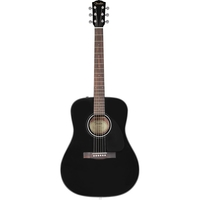 Fender CD-60 Dreadnought Acoustic Guitar, Black