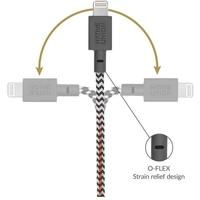 NATIVE UNION Belt Lightning Charging Cable - 1.2M - Zebra
