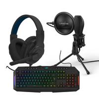Hama uRage SoundZ 100 Gaming Headset with Stream 400 Plus and Exodus 700 Semi-Mechanical Bundle