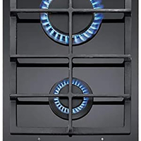 Teka 30 cm Modular Gas on Glass Hob 2 burners VT. 2G AI AL BUT E1, Ceramic glass, Auto-ignition & Auto-lock