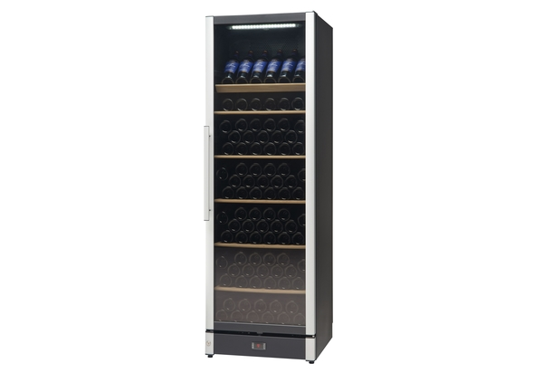 Vestfrost Beverage Cooler, 197 Bottles, W185BLACK