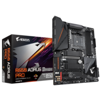 Gigabyte AMD B550 AORUS Motherboard with True 12+ 2 Phases Digital VRM, Fins-Array Heatsink, Direct-Touch Heatpipe, Dual PCIe 4.0/3.0 x4 M. 2 with Thermal Guards, 2.5GbE LAN, RGB FUSION 2.0, Q-Flash Plus