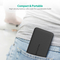 RAVPower 10000mAh Power Bank with Built in Lightning Cable, Black