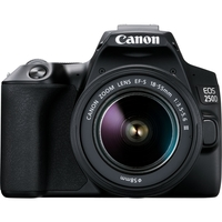 Canon EOS 250D DSLR Camera with EF-S 18-55mm f/3.5-5.6 III Lens, Black