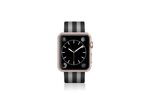 Casetify Nylon Fabric Apple Watch Band (38mm) , Stripe Black