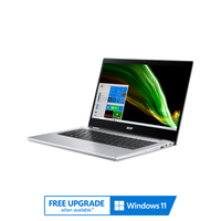 "Acer Spin 1, Intel Celeron N4500, 4GB RAM, 128GB EMMC, 14"" FHD Convertible Laptop, Silver"