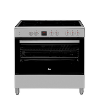 Teka 90x60 cm 5 cooking zones Full Electric Cooking Range FS 903 5VE SS, Ceramic Hob, Multifunction Oven, Stainless steel