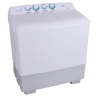 Hisense Twin Tub Washing Machine 14 KG Wash Capacity: 14Kg, Spin Capacity: 8Kg 1250 RPM, White & Black