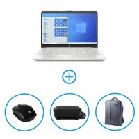 "HP 15-DW2081NE i5 4GB, 256GB NVIDIA® GeForce® MX130 2GB Graphic 15"" Laptop Bundle"