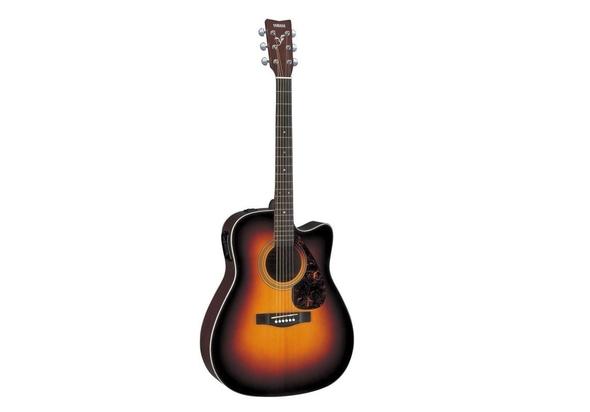 Yamaha FX370CTBS Acoustic Electric Guitar, Tobacco Brown Sunburst