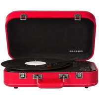 Crosley CR6026A-RE Coupe Bluetooth Turntable, Red