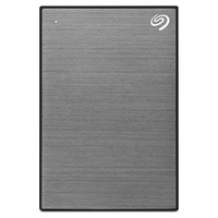 Seagate 2TB Backup Plus Slim External Hard Drive, Space Gray
