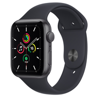 Apple Watch SE Space Grey Aluminium Case with Midnight Sport Band, GPS, 44mm