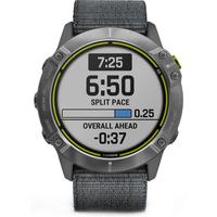 Garmin Enduro Smartwatch for Endurance Athletes Steel with Gray UltraFit Nylon Strap