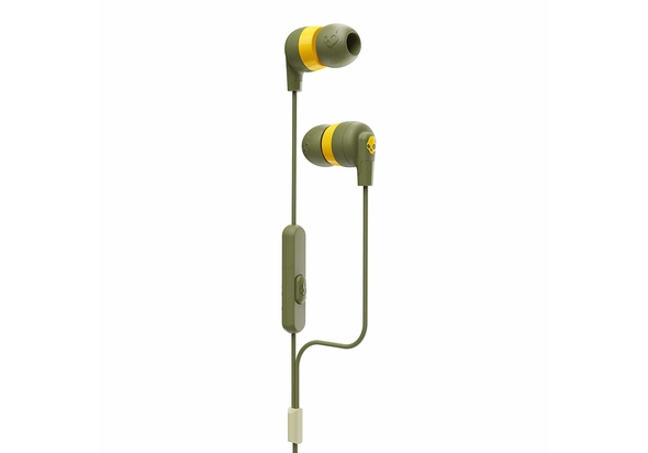 Skullcandy Ink d Plus Wired In-Ear Headphones,  Moss Olive Yellow