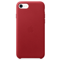 Apple iPhone SE Leather Case,  RED