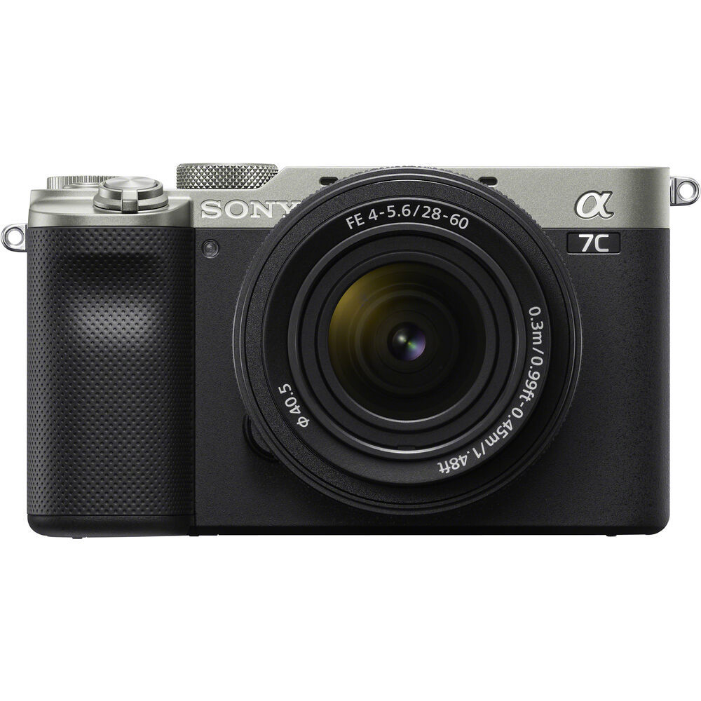 - Sony Alpha a7C Mirrorless Digital Camera with 28-60mm Lens, Silver