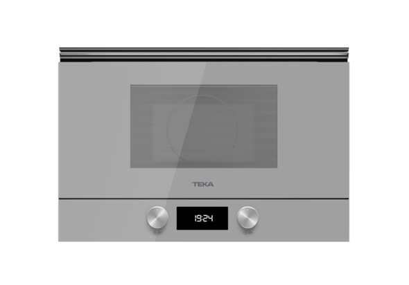Teka 22 Liters Built-In Microwave with Grill ML 8220 BIS L Steam Grey, 3 Cooking functions, Ceramic base