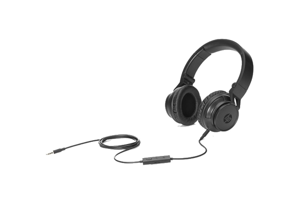 HP Black Foldable Headphones With Microphone