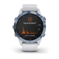 Garmin Fenix 6 Pro Solar Edition Mineral Blue with Whitestone Band