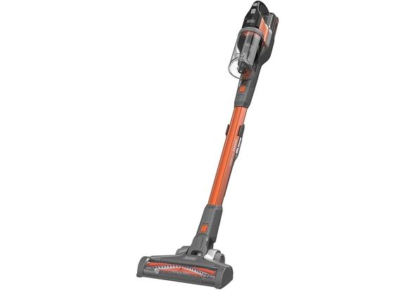 Black & Decker 18V 4-in-1 Li-Ion Cordless Powerseries EXTREME Upright Stick Vacuum Cleaner, Orange - BHFEV182C-GB