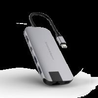 HyperDrive Slim USB-C Hub Space Gray,  Gray