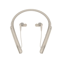 Sony WI1000X/N Premium Noise Cancelling Wireless Behind-Neck In Ear Headphones, Champagne Gold