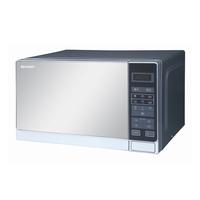 Sharp 20 Liter 800 Watts Black Finished Door Microwave Oven, Silver
