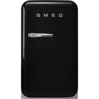 Smeg FAB5RBL3GA Single Door Refrigerator 38 L, Black