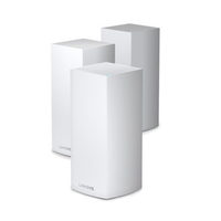 Linksys Velop Whole Home Intelligent Mesh WiFi 6 (AX4200) System, Tri-Band, 3-pack