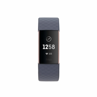 Fitbit Charge 3 Advanced Health & Fitness Tracker,  Blue Grey / Rose-Gold Aluminium
