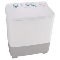 Hisense Twin Tub Washing Machine 7 KG Wash Capacity: 8.0Kg, Spin Capacity: 5.6Kg 1250 RPM, White & Black