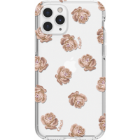 Coach Protective Case for iPhone 11 Pro, Dreamy Peony Clear/Pink/Glitter