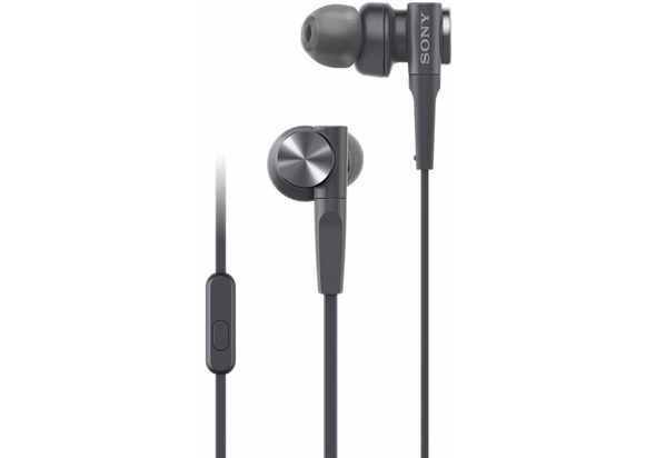 Sony MDR-XB55AP Extra Bass in-Ear Headphone with Mic, Black