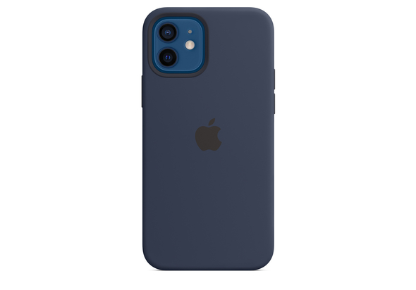 Apple iPhone 12| 12 Pro Silicone Case with MagSafe, Deep Navy