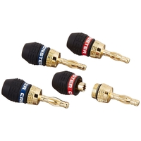 Monster QL GMT-H MKII Gold Banana Connectors For Easy Self Crimping Terminations