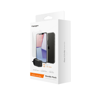 Spigen iPhone 12 Pro Max Clear Case+ Tempered Glass+ Wall Charger 27w Bundle