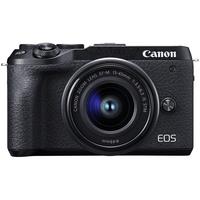 Canon EOS M6 Mark II Mirrorless Digital Camera with 15-45mm Lens, Black