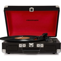Crosley CR8005D-BK4 Cruiser Deluxe Turntable with Speaker, Black - CH