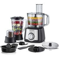Black & Decker 600W 29 Function Food Processor with Blender, Grinder & Juicer, Silver/Black - FX650-B5