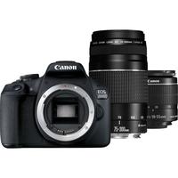 Canon EOS 2000D 18-55 IS+ 75-300 DC Lens DSLR Camera