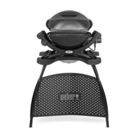Weber Q 1400 Electric Grill with Stand Dark Grey