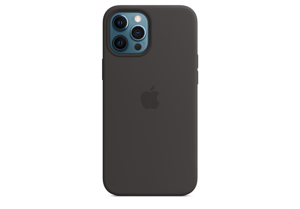 Apple iPhone 12 Pro Max Silicone Case with MagSafe, Black