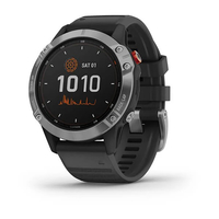 Garmin Fenix 6 Solar Bluetooth Smartwatch Silver with Black Band