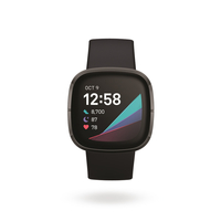 Fitbit Sense GPS Smartwatch,  Carbon / Graphite Stainless Steel