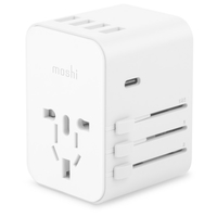 Moshi MSHI-L-022156 World Travel Adapter with USB-C Port, White