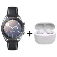Samsung Galaxy Watch 3 Bluetooth 41mm with JBL Tune 120,  Mystic Silver